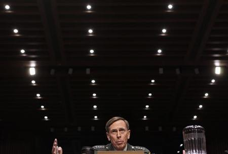 U.S. General David Petraeus speaks during the Senate Intelligence Committee hearing on his nomination to be director of the Central Intelligence Agency on Capitol Hill in Washington June 23, 2011. REUTERS/Yuri Gripas