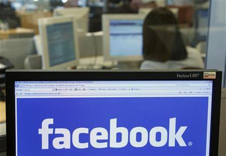 The Facebook logo is displayed on a computer screen in Brussels April 21, 2010. REUTERS/Thierry Roge