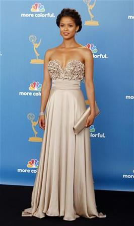Actress GuGu Mbatha-Raw from NBC fall show ''Undercovers'' poses at the 62nd annual Primetime Emmy Awards in Los Angeles, California August 29, 2010. REUTERS/Danny Moloshok