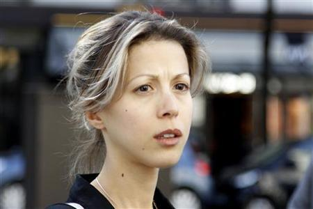 French writer Tristane Banon leaves the office of her lawyer David Koubbi in Paris May 17, 2011. REUTERS/Charles Platiau