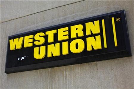 A Western Union sign is seen in New York March 28, 2009. Picture taken March 28, 2009. REUTERS/Eric Thayer
