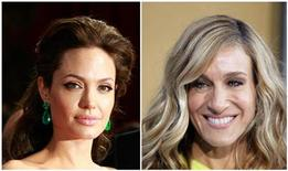 <p>Actresses Angelina Jolie (L) and Sarah Jessica Parker are seen in this July 6, 2011 combination file photo. Jolie and Parker, with annual salaries of $30 million each, are the highest paid actresses in Hollywood, according to a new ranking. Pictures taken February 22, 2009 (L) and May 24, 2010. REUTERS/Lucas Jackson/Files</p>