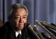 <p>Japan's newly appointed reconstruction minister Ryu Matsumoto speaks at a news conference after resigning his post, in Tokyo July 5, 2011. REUTERS/Yuriko Nakao</p>
