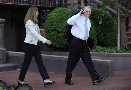 U.S. Senate Minority Whip Jon Kyl (R-AZ) departs after meeting with a bipartisan group of lawmakers and Vice President Joe Biden to work on a legislative framework for comprehensive deficit reduction at the Blair House in Washington May 10, 2011. REUTERS/Jonathan Ernst