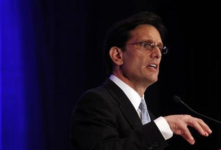 House Majority Leader Eric Cantor (R-VA) speaks at the Faith & Freedom Conference and Strategy Briefing in Washington, June 3, 2011. REUTERS/Molly Riley