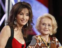 "<p>Cast member Susan Lucci (L) and creator Agnes Nixon from the soap opera series ""All My Children"" participate in a panel discussion at the Disney ABC winter 2010 Television Critics Association press tour in Pasadena, California January 12, 2010. REUTERS/Danny Moloshok</p>"