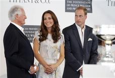 <p>Former U.S. Ambassador to Jamaica Glen Holden (L) attends a charity event in support of the American Friends of The Foundation of Prince William and Prince Harry with Britain's Prince William (R) and his wife Catherine, Duchess of Cambridge, at the Santa Barbara Polo and Racquet Club in Santa Barbara, California July 9, 2011. REUTERS/Alex Gallardo</p>