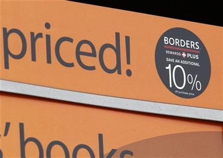 A sale sign is seen at a Borders bookstore in San Diego, California February 16, 2011. REUTERS/Mike Blake