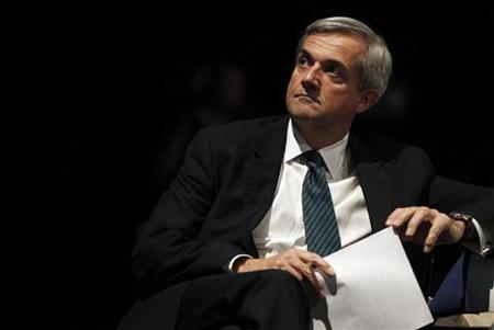 Britain's Energy Secretary Chris Huhne waits to deliver his speech at the Liberal Democrat Party's conference in Liverpool, northern England September 21, 2010. REUTERS/Phil Noble