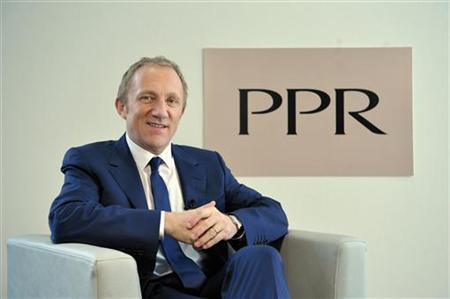 Pinault-Printemps-Redoute (PPR) Chairman and CEO Francois-Henri Pinault attends a television interview following the company's 2010 annual results presentation in Paris February 17, 2011. REUTERS/Philippe Wojazer
