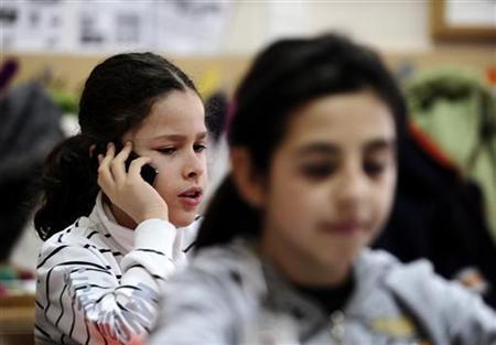 Marko Calasan attends class at his elementary school in Skopje February 8, 2010. REUTERS/Ognen Teofilovski
