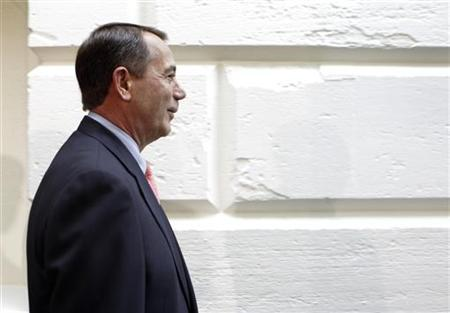 U.S. House Speaker John Boehner (R-OH) arrives at a GOP conference meeting on Capitol Hill in Washington July 29, 2011. REUTERS/Yuri Gripas