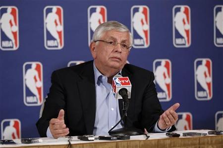 National Basketball Association commissioner David Stern answers questions from the media regarding failed contract negotiations between the NBA and the players association in New York June 30, 2011. REUTERS/Lucas Jackson