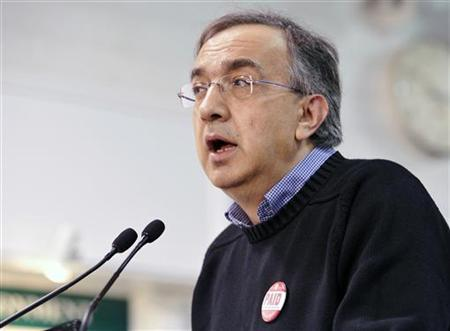 Sergio Marchionne, Chrysler Group LLC. Chief Executive Officer, speaks during a news conference at the Chrysler Casting Plant in Etobicoke May 30, 2011. REUTERS/Mike Cassese