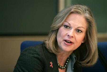 Former Playboy Enterprises Inc Chief Executive Christie Hefner in a file photo. REUTERS/Brendan McDermid