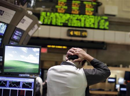 A trader works on the floor of the New York Stock Exchange August 4, 2011. REUTERS/Brendan McDermid