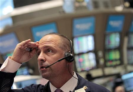 A trader on the floor of the New York Stock Exchange, August 5, 2011. REUTERS/Brendan McDermid