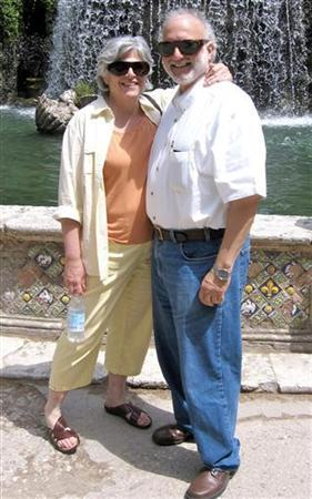 U.S. aid contractor Alan Gross and his wife Judy pose for a picture in Rome, Italy, in this undated family photograph released on October 23, 2010. REUTERS/Family Photograph/Handout