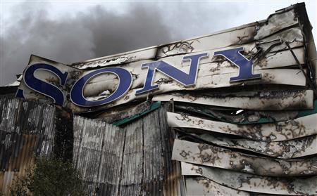 Smoke billows from the Sony Centre in Enfield, north London, August 9, 2011. REUTERS/Chris Helgren