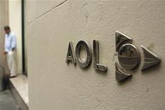 <p>AOL fait état pour le deuxième trimestre d'un chiffre d'affaires supérieur aux attentes, grâce à ses recettes publicitaires. Le chiffre d'affaires est en recul de 8% à 542,2 millions de dollars, mais cette baisse est moins prononcée que prévu. /Photo d'archives/REUTERS/Lucas Jackson</p>