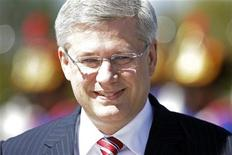 <p>Canada's Prime Minister Stephen Harper attends a welcoming ceremony before a meeting with Brazil's President Dilma Rousseff at Planalto Palace in Brasilia August 8, 2011. REUTERS/Ueslei Marcelino</p>