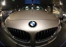 <p>A BMW five series is on display at the headquarters of the German luxury carmaker in Munich May 11, 2011. REUTERS/Michael Dalder</p>