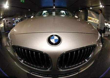 A BMW five series is on display at the headquarters of the German luxury carmaker in Munich May 11, 2011. REUTERS/Michael Dalder