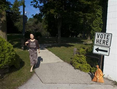 Voters take to the polls as Wisconsin holds the nation's largest ever recall elections in River Hills August 9, 2011. REUTERS/Darren Hauck