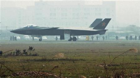 An aircraft that is reported to be a Chinese stealth fighter is seen in Chengdu, Sichuan province, in this picture taken January 7, 2011, and released by Kyodo news agency January 8, 2011. REUTERS/Kyodo