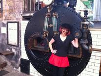 <p>Author O.M. Grey at the Kew Bridge Steam Museum in London, August 6, 2011. REUTERS/Julie Mollins</p>