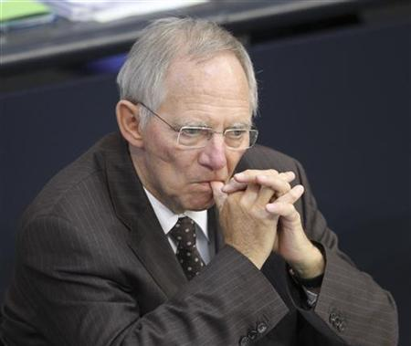 German Finance Minister Wolfgang Schaeuble attends a session of the lower house of parliament Bundestag in Berlin, June 10, 2011. REUTERS/Fabrizio Bensch