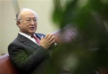 International Atomic Energy Agency (IAEA) Director General Yukiya Amano reacts during an interview with Reuters at the United Nations headquarters in Vienna August 19, 2011. REUTERS/Herwig Prammer