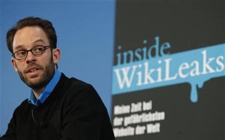 IT-specialist and former team member of the whistle blower website WikiLeaks, Daniel Domscheit-Berg, speaks during a news conference about his book ''Inside Wikileaks'' in Berlin, February 10, 2011. REUTERS/Thomas Peter