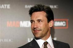 "<p>Cast member Jon Hamm poses at the premiere for the fourth season of the television series ""Mad Men"" at the Mann 6 theatre in Hollywood, California July 20, 2010. REUTERS/Mario Anzuoni</p>"