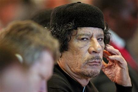 Libya's leader Muammar Gaddafi attends the Food and Agriculture Organisation (FAO) Food Security Summit in Rome November 16, 2009. REUTERS/Alessandro Di Meo/Pool
