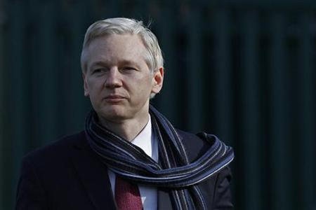 WikiLeaks founder Julian Assange leaves after appearing at Belmarsh Magistrates' Court in London February 24, 2011. REUTERS/Stefan Wermuth