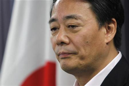Japan's Trade Minister Banri Kaieda attends a news conference in Tokyo August 4, 2011. REUTERS/Yuriko Nakao