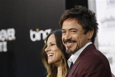 "<p>Actor Robert Downey Jr. and his wife Susan pose at the premiere of ""The Hangover Part II"" at Grauman's Chinese theatre in Hollywood, California May 19, 2011. REUTERS/Mario Anzuoni</p>"