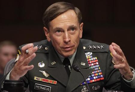 U.S. General David Petraeus gestures during the Senate Intelligence Committee hearing on his nomination to be director of the Central Intelligence Agency on Capitol Hill in Washington June 23, 2011. REUTERS/Yuri Gripas