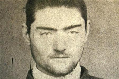A photograph of a police mugshot of Ned Kelly, aged 16. REUTERS/Old Melbourne Gaol/Handout