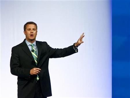 Doug McMillon, President and CEO, Wal-Mart Stores Inc. International, speaks to shareholders during Wal-Mart Stores Inc's annual general meeting in Fayetteville, Arkansas on June 3, 2011. REUTERS/Sarah Conard