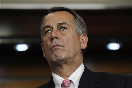 U.S. House Speaker John Boehner (R-OH) attends a news conference about debt relief legislation at the U.S. Capitol in Washington, August 1, 2011. REUTERS/Jonathan Ernst
