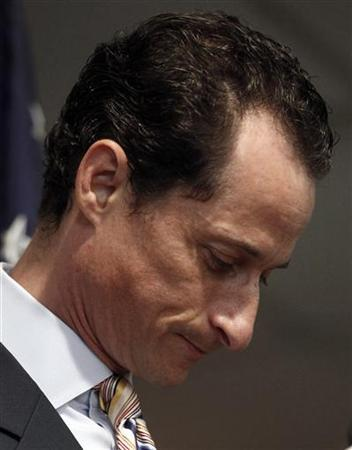 In this file photo Anthony Weiner announces that he will resign from the House of Representatives during a news conference in Brooklyn, New York, June 16, 2011. REUTERS/Shannon Stapleton