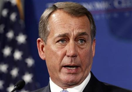Speaker of the House John Boehner addresses the Economic Club in Washington September 15, 2011. REUTERS/Kevin Lamarque