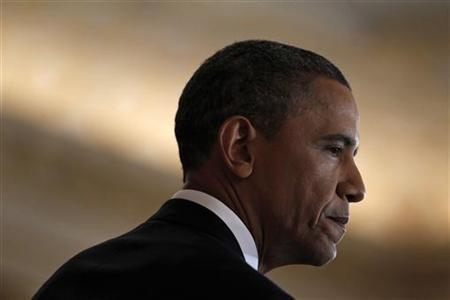 U.S. President Barack Obama delivers a speech about United States' policy on the Middle East and North Africa at the State Department in Washington May 19, 2011.REUTERS/Jim Young