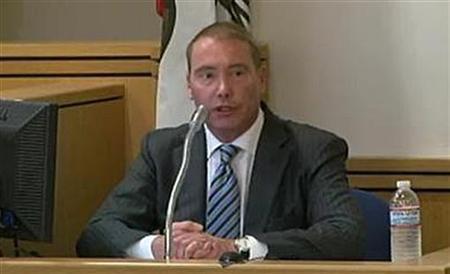 Bond fund manager Jeffrey Gundlach testifies in court in Los Angeles August 11, 2011 in this still image from pool web video. REUTERS/CVN/Pool
