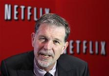 <p>Netflix's Chief Executive Officer Reed Hastings speaks during an interview with Reuters in Buenos Aires September 7, 2011. REUTERS/Enrique Marcarian</p>