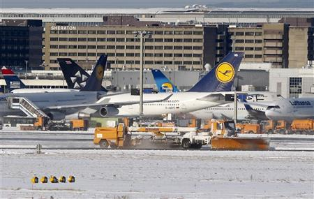 Orange Armada Ready For Snow At Frankfurt Airport Reuters