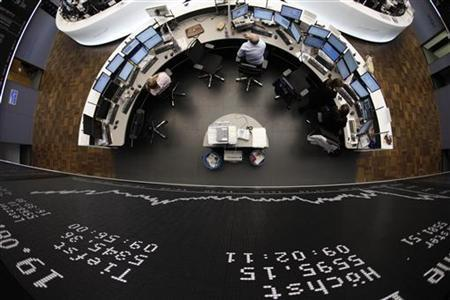 The DAX board is pictured at the Frankfurt stock exchange August 19, 2011. REUTERS/Alex Domanski