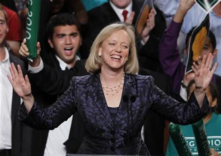 Meg Whitman gives her concession speech during her election night rally in Los Angeles, California, November 2, 2010. REUTERS/Lucy Nicholson